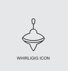 Whirligig icon vector