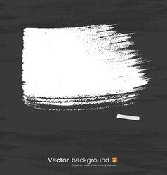 White pastel space for text on blackboard vector image