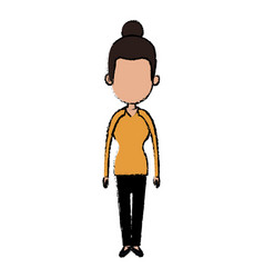 Woman character female standing design vector