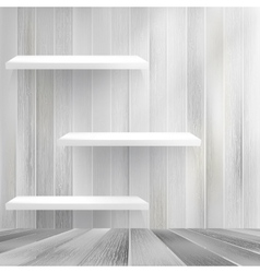Wood shelf on wood background eps10 vector