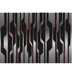metal black futuristic red light on circuit vector image