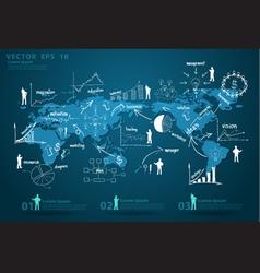 Modern global business economy vector