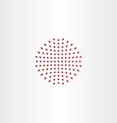 red halftone design element icon vector image