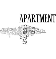 what to look for in an apartment text word cloud vector image vector image