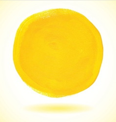 Yellow acrylic paint circle vector image vector image