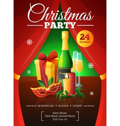 Christmas Party Poster vector image vector image