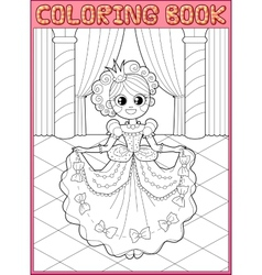 Coloring book Fairy tail vector image vector image