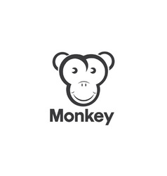 design template of an monkey vector image vector image