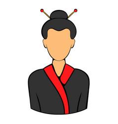 geisha icon cartoon vector image vector image