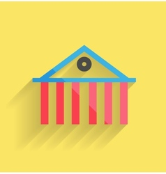 House icon modern flat design vector image vector image