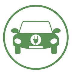 logo of electric car vector image vector image