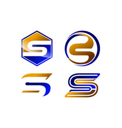 s letter logo template collection vector image