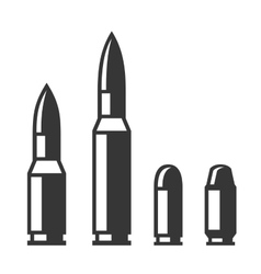 Weapon Bullet Icons Set isolated on White vector image vector image