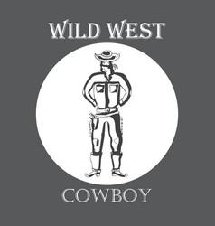wild west cowboy vector image vector image