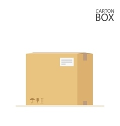 Carton box to send mail or packages sealed with vector