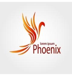 Colorful Phoenix logotype Stock vector image