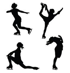 Figure skaters vector