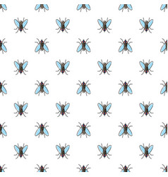 fly seamless pattern for textile design wallpaper vector image