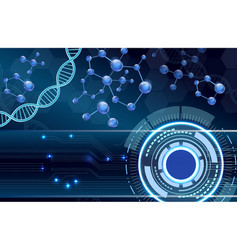 molecular structure and dna background vector image vector image