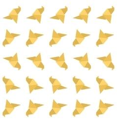 Origami bird seamless pattern vector