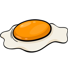 poached egg cartoon vector image vector image