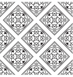 portuguese black and white mediterranean seamless vector image vector image