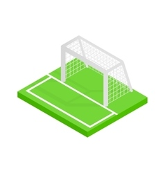 Soccer goal isometric 3d icon vector image vector image