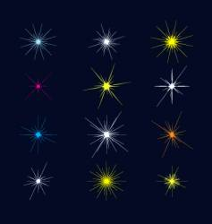 sparkles and starbursts vector image vector image