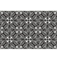 Black-and-white seamless gothic pattern vector