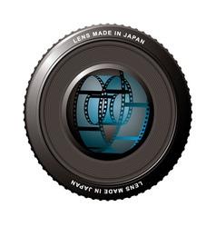 digital camera lens vector image