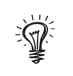 light bulb - creative sketch draw vector image vector image