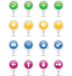 Pointers with icons vector