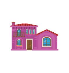traditional mexican house mexico city facade vector image vector image