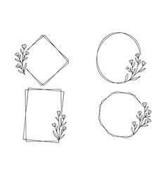 0009 hand drawn floral frame vector