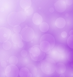 Abstract bokeh circles design on violet background vector image