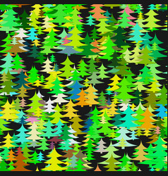 abstract chaotic pine tree background - seasonal vector image