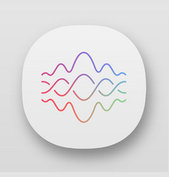 abstract fluid overlapping waves app icon uiux vector image