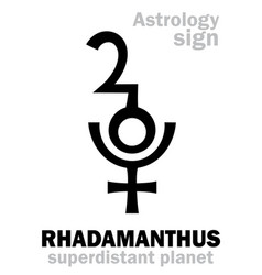 Astrology planet rhadamanthus vector
