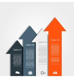 Banner infographic design template vector image