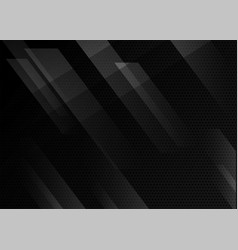 Black abstract geometric background modern vector