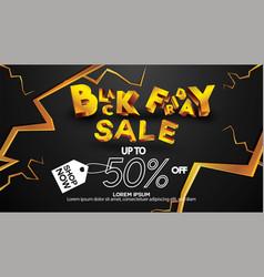 Black friday sale banner layout design background vector