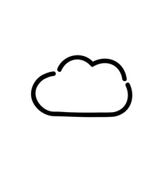 black outline clouds on white vector image