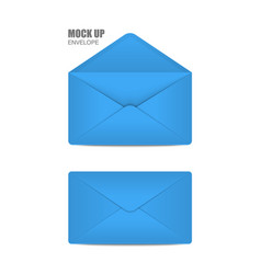 Blue open envelope vector