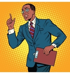 Businessman gesture of the teacher vector