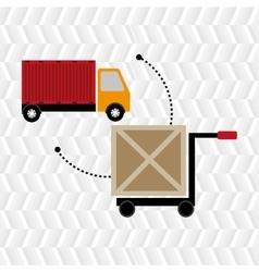 Car hand box cargo vector