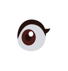 Cartoon eye vision look optic icon vector