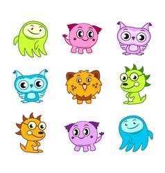 Cartoon funny monster kids vector image