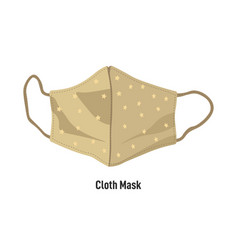 cloth mask with straps handmade face covering vector image