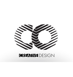 Co c o lines letter design with creative elegant vector