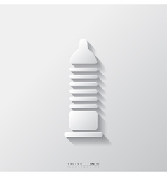 Condom icon Health care Medical background vector image